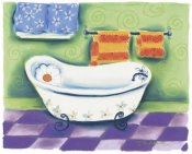 Dona Turner - White Tub With Daisy Pillow