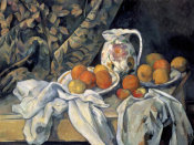 Paul Cezanne - Still Life with a Curtain and Pitcher