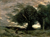 Jean-Baptiste-Camille Corot - Gust of Wind