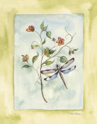 Paige Houghton - Dragonfly With Orange Flowers