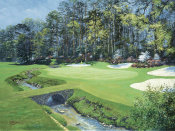 Bernard Willington - The 13th At Augusta-Azalea