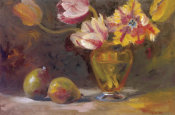 Shari White - Parrot Tulips With Pears