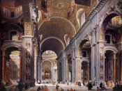 Giovanni Paolo Pannini - Interior Of St. Peter's, Rome