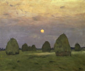 Isaac Levitan - Haystacks Twilight, 1899