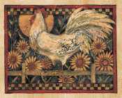 Susan Winget - Rooster With Sunflowers