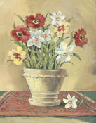 Betty Whiteaker - Flower On Red Mat 1