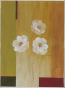 Fernando Leal - Three White Flowers II