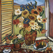 Suzanne Etienne - Sunflowers At Window