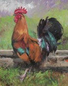 N. Mirkovich - Red And Turquoise Rooster