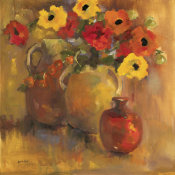 Lorrie Lane - Red And Yellow Poppies