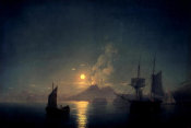 Ivan Aywasovsky - The Bay of Naples by Moonlight, 1842