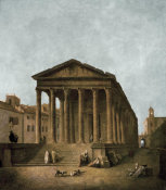 Hubert Robert - Temple of Augustus in Nimes, 1783