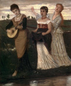 Arnold Bocklin - Music in the Fields