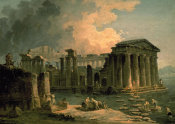 Hubert Robert - Ruins of a Doric Temple
