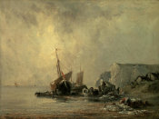 Richard Parkes Bonington - Boats by the Normandy Shore