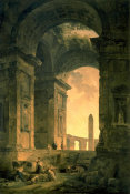Hubert Robert - The Landscape with Obelisk
