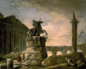 Hubert Robert - Architectural Landscape with Obelisk
