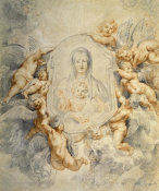 Peter Paul Rubens - Image of the Virgin Portrayed with Angels