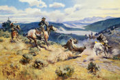Charles M. Russell - Loops and Swift Horses Are Surer Than Lead