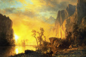 Albert Bierstadt - Sunset in the Rockies