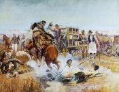 Charles M. Russell - Bronc to Breakfast