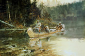 Charles M. Russell - On The Flathead