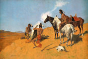 Frederic Remington - The Smoke Signal