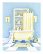 Alexandra Burnett - Blue Bathroom I