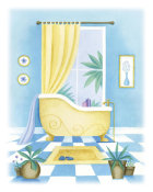 Alexandra Burnett - Blue Bathroom II