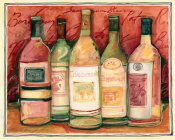 Susan Winget - Wine Bottle on Red