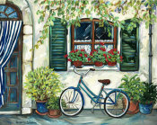 Suzanne Etienne - Country Cottage with Blue Bicycle