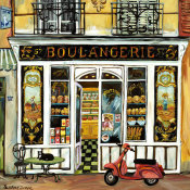 Suzanne Etienne - Boulangerie and Red Scooter