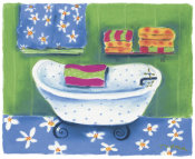 Dona Turner - White Tub With Blue Polka Dots