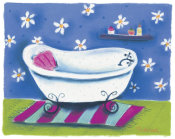 Dona Turner - White Tub With Pink Pillow
