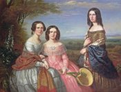 William Baker - A Group Portrait of Three Girls