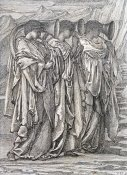Sir Edward Burne-Jones - Study For 'The Challenge In The Wilderness'
