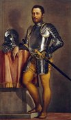 Paolo Caliari - Portrait of a Gentleman Wearing Half-Armour