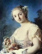 Rosalba Carriera - Summer: a Girl Holding Peaches