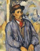 Paul Cezanne - Peasant In Blue Shirt