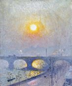 Emile Claus - Sunset Over Waterloo Bridge