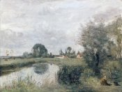 Jean-Baptiste-Camille Corot - A View of Arleux From The Marshes of Palluel