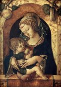 Carlo Crivelli - The Madonna and Child at a Marble Parapet