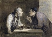 Honore Daumier - Two Drinkers