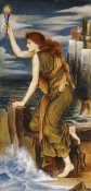Evelyn De Morgan - Hero Holding The Beacon For Leander