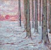 William Degouve De Nuncques - Winter In The Forest