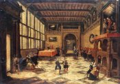 Paulus Vredeman De Vries - Ladies and Gentlemen Dancing In a Sumptuous Interior