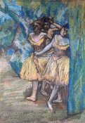 Edgar Degas - Three Dancers, With a Backdrop of Trees and Rocks