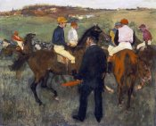 Edgar Degas - Racehorses (Leaving The Weighing)