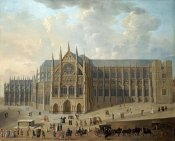 English School - View of Westminster Abbey