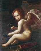 Giovan Francesco Gessi - Cupid Sharpening His Arrows